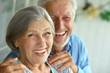 Leinwandbild Motiv Happy senior couple
