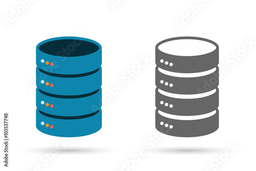 Fototapeta Data storage flat icon obraz