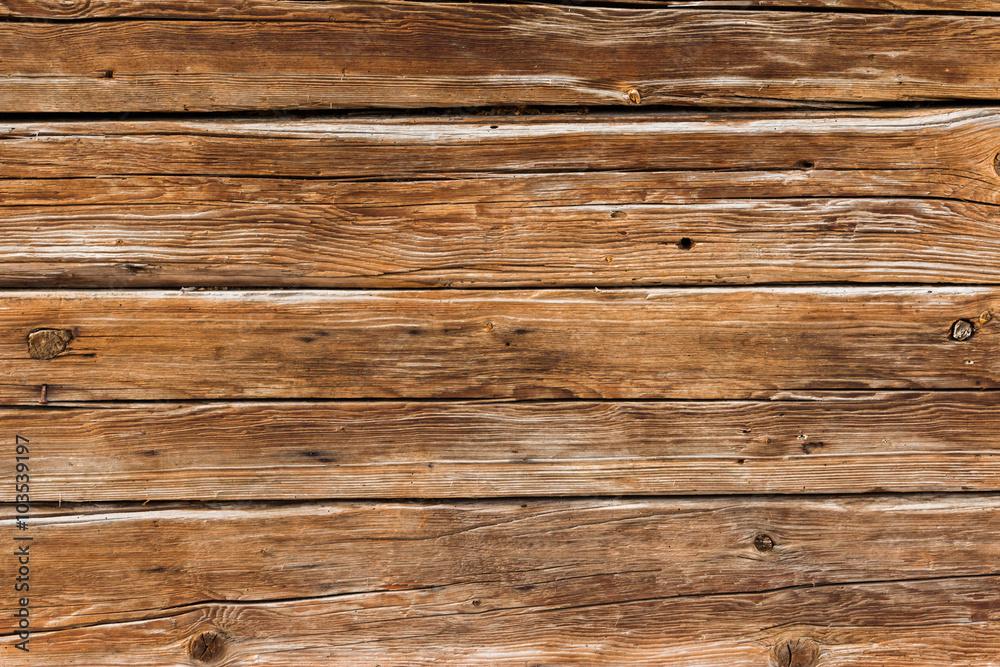 Holz Hintergrund rustikal, Bretterwand aus Holz Warmen Foto, Poster ...