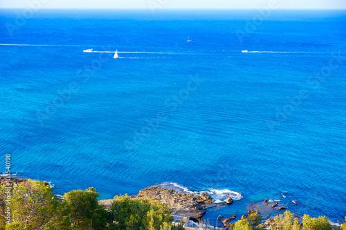 Photo  Denia Las Rotas beach in Mediterranean Spain