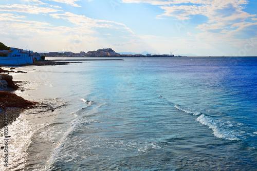 Denia beach Las Rotas in summer at Alicante Poster