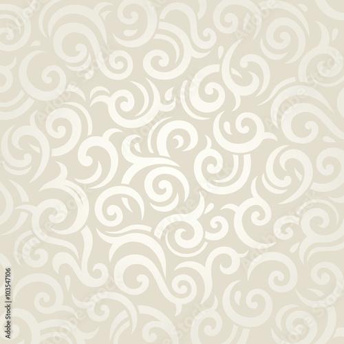 Wedding Vintage Wallpaper Design White Gold Vector