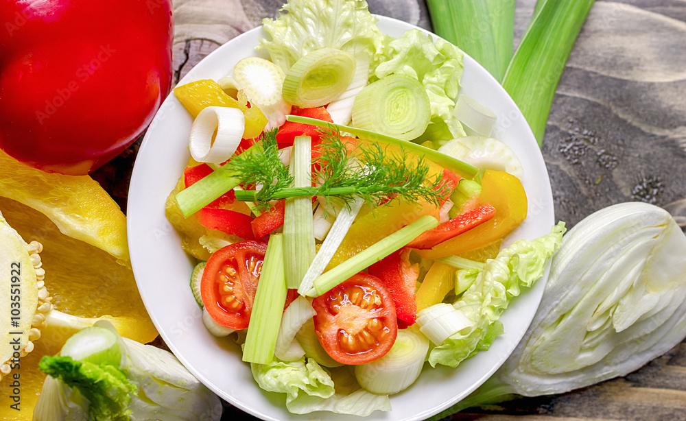 Fototapeta Healthy food - healthy meal