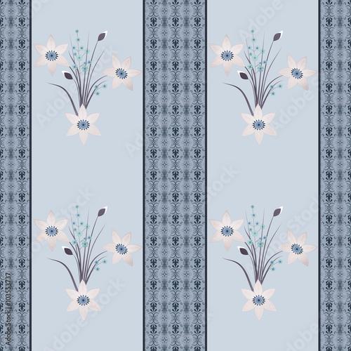 bezszwowych-kwiecistych-kwiatow-wzoru-retro-pasiasty-tlo