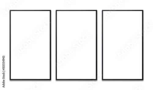 Fotografia vertical flat screen of promotion display blank
