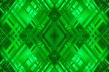 Abstract Green Fractal Background With Various Color Lines And S