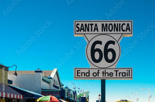 In de dag Route 66 end of route 66 on santa monica pier, california