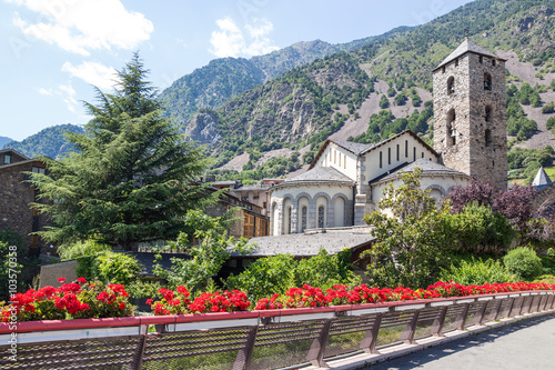 Beautiful view of Andorra La Vella Canvas Print