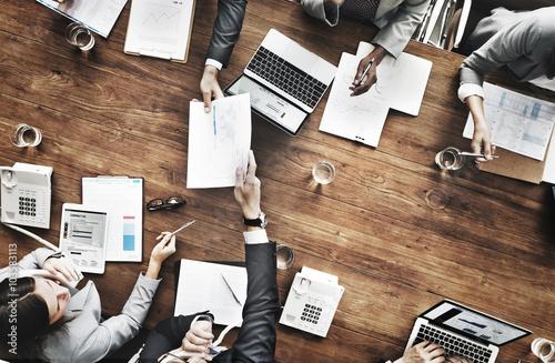 Fototapeta Business People Analyzing Statistics Financial Concept obraz