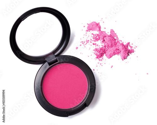 Photo Rouge Blush pink Kosmetik Makeup isoliert