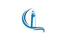 Lighthouse Ocean Vector Logo
