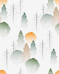 Fototapetaseamless pattern / natural scene
