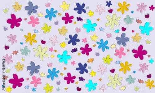 Flores De Colores Variados 1 Buy This Stock Vector And Explore