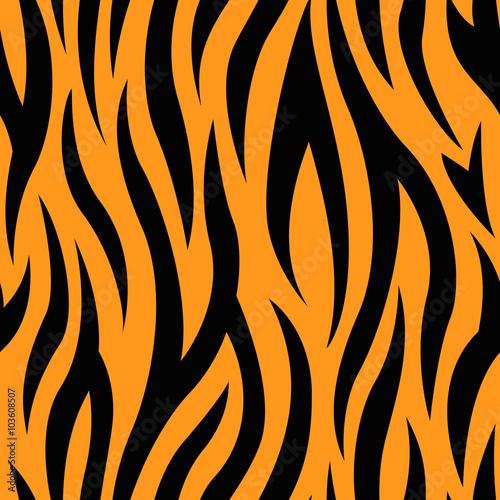Tiger Stripes Seamless Pattern Wall mural