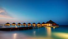 Water Villas In Hotel Resort, Maldives