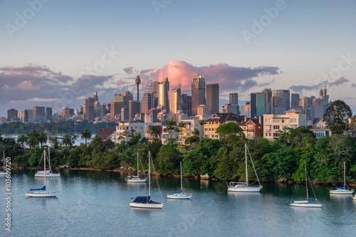 Staande foto Sydney Looking across Cremorne from Mosman Bay to Sydney