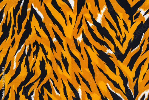 In de dag Tijger texture of print fabric striped tiger
