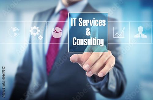 IT Service & Consulting Wallpaper Mural