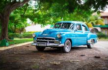 The Old Car On Cuba