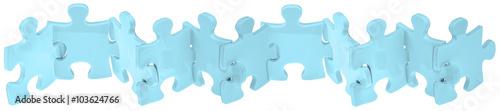 Photo puzzle ribambelle, fond blanc