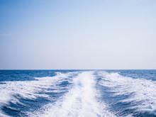 Foam Wave From Speed Boat