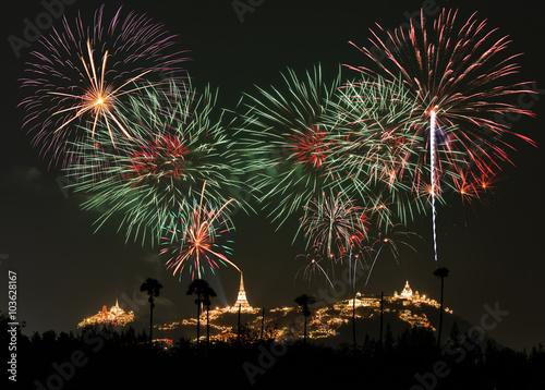Keuken foto achterwand Nasa Fireworks Festival at Phetchaburi, Thailand