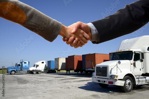 Fototapeta Uścisk dłoni do dostarczania