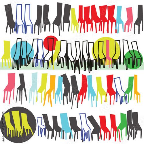 Fényképezés  colored stools
