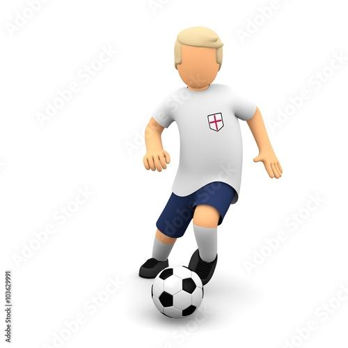 Englische Fussballer Lauft Mit Dem Ball