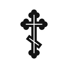 Orthodox Cross Icon, Simple Style