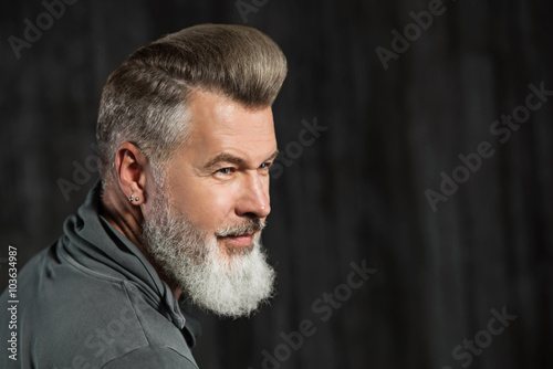 Fotografie, Obraz  Concept for stylish adult man with beard