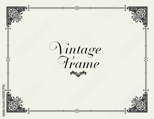 Vintage Ornament Border Decorative Floral Frame Vector Buy This
