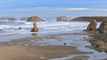 Bandon Beach From The Face Rock State Scenic Viewpoint In Bandon, Oregon