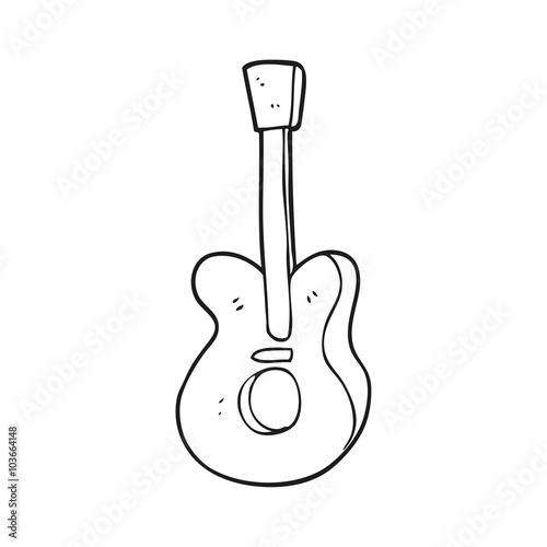 Black And White Cartoon Guitar Buy This Stock Vector And Explore Similar Vectors At Adobe Stock Adobe Stock