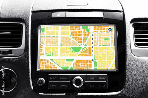 Navigation system in car