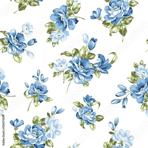 wzor-niebieskie-kwiaty
