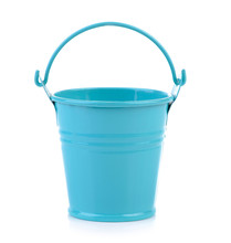 Pail Of Small Pots On White Background