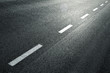 canvas print picture - White dotted line on city asphalt road background.