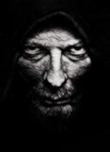 Scary Evil Wrinkled Man