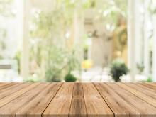 Wooden Board Empty Table In Fr...