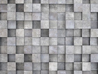 Panel Szklanywall of concrete cubes