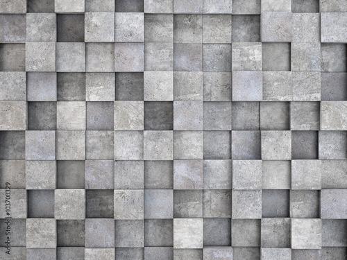 sciana-z-betonowych-kostek-betonowy-efekt-3d