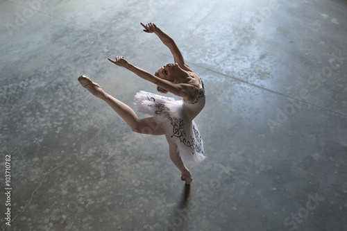 Ballerina indoors Canvas Print