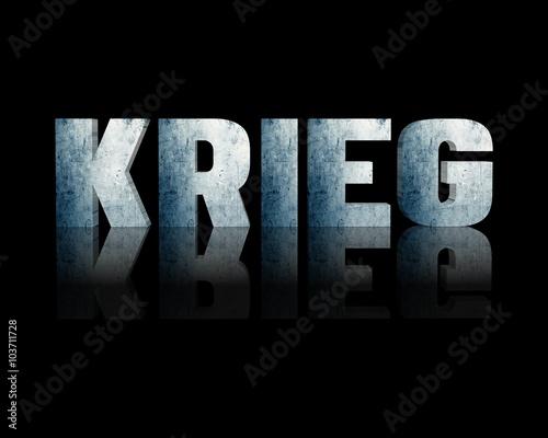 Fototapety, obrazy: Krieg 3d wort