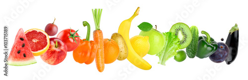 Poster Cuisine Fruits and vegetables
