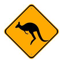 Road Sign Kangaroo