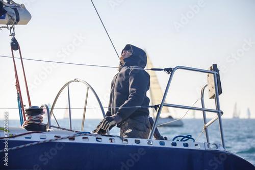 Tuinposter Zeilen regata nel mar Mediterraneo, Italia