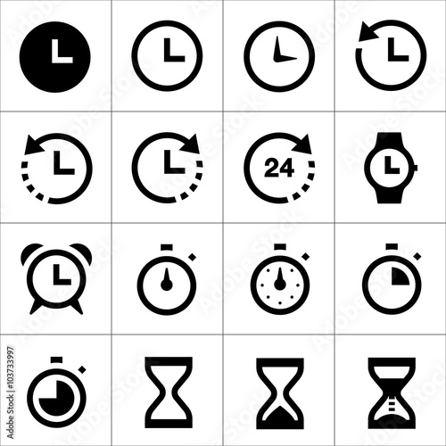 Fototapeta time icons