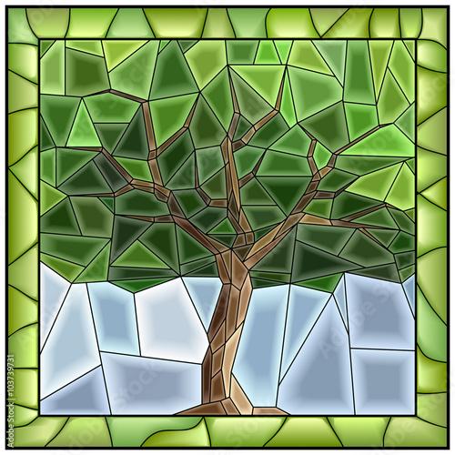 wektorowa-zielona-ilustracja-drzewo