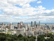 Montreal City Skyline, view from Mount Royal